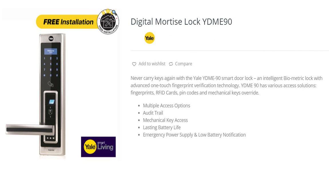 Digital lock YDME 90