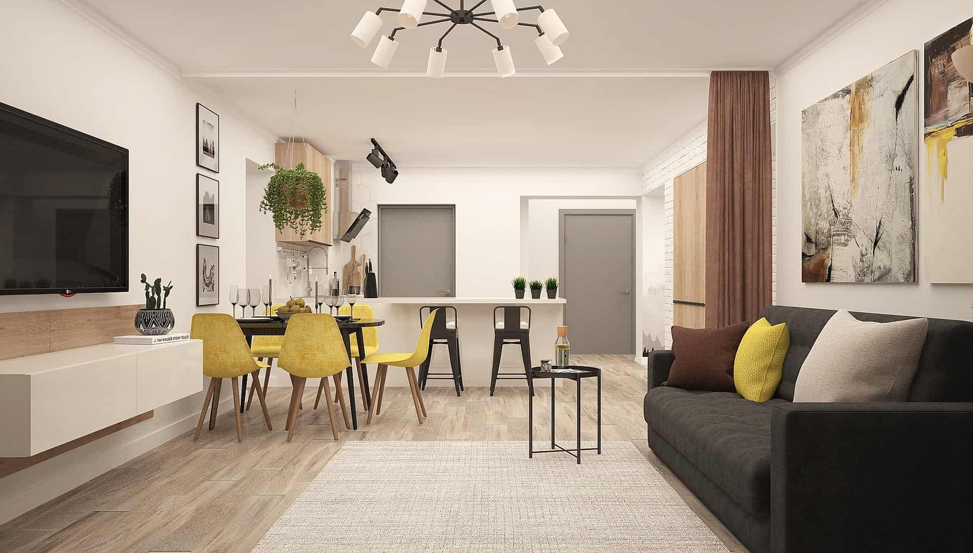 improve home - living room