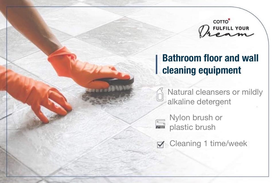 Reveal how to keep the bathroom clean