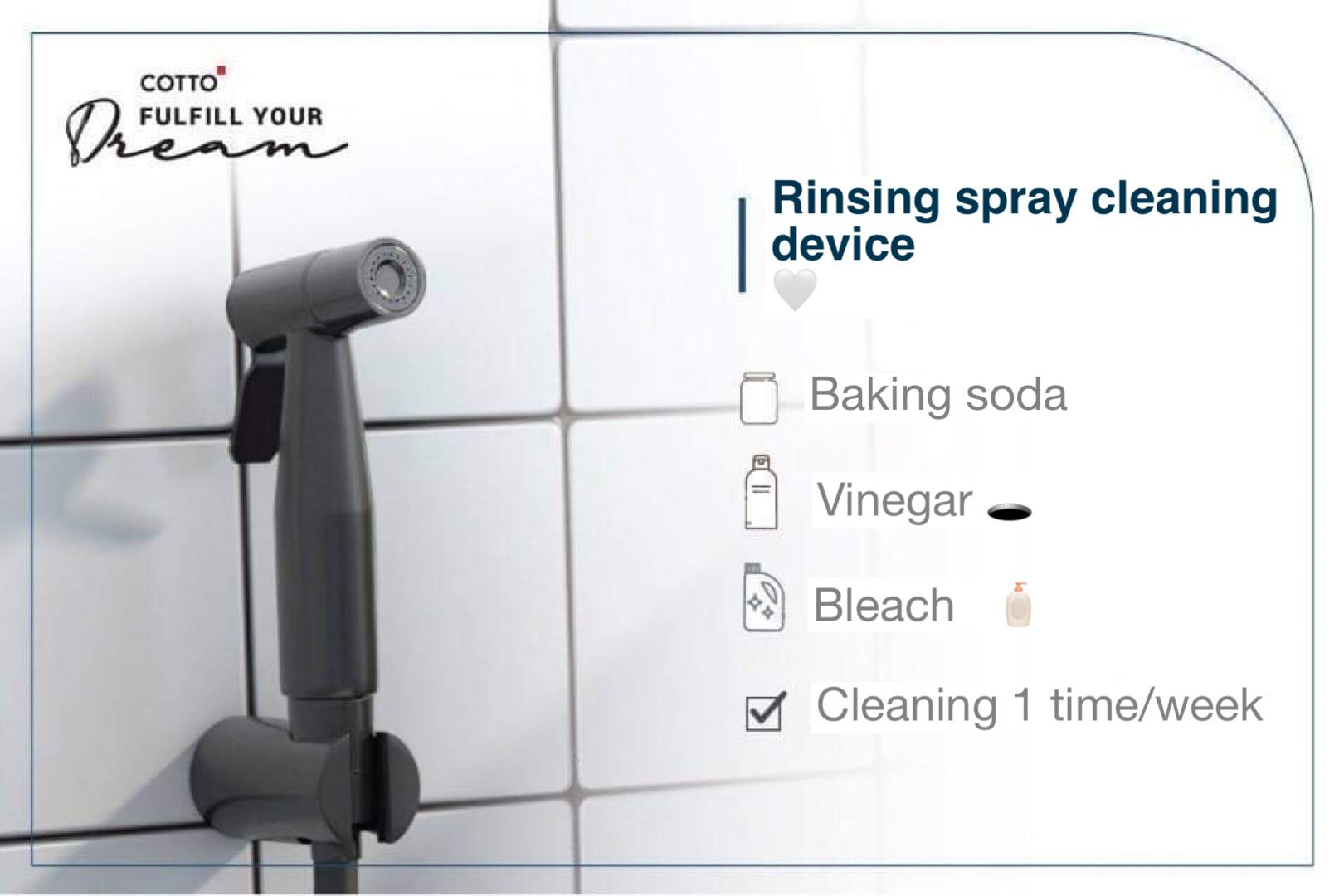 Show how to clean bathroom