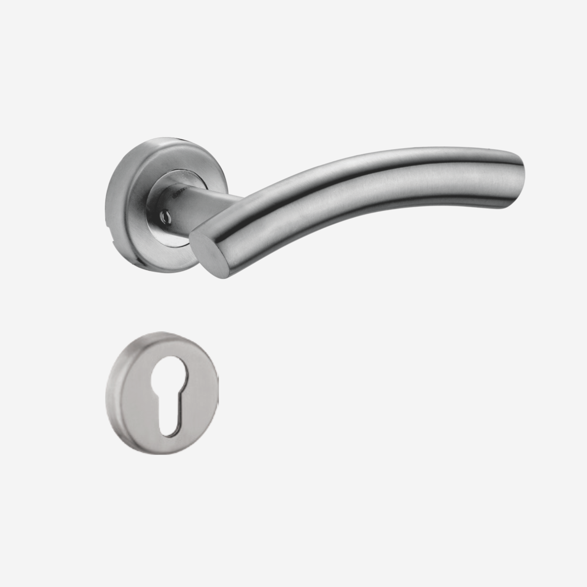 Dorset Lever handle for doors with lock _ cylinder - SC OR (SS)