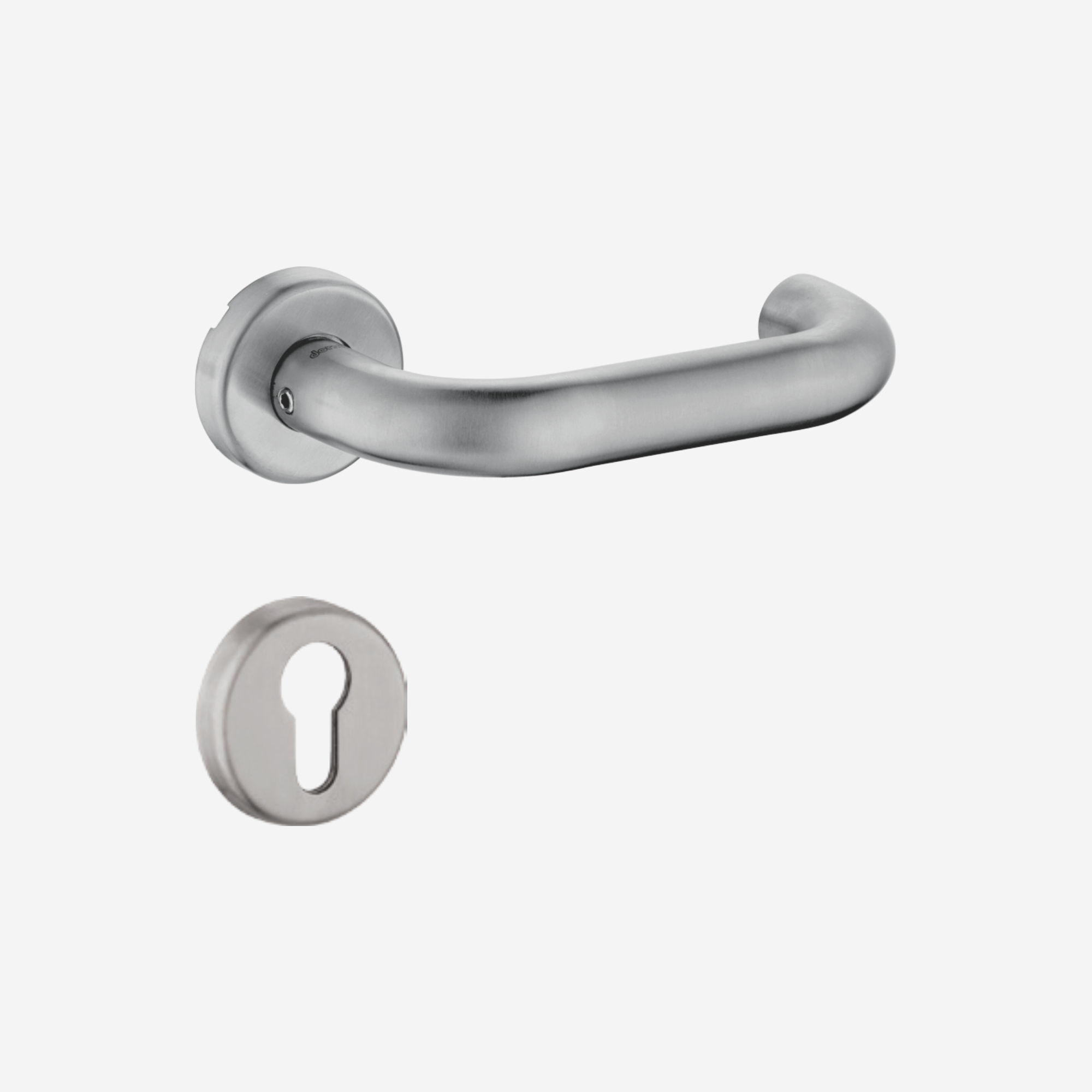 Dorset Lever handle for doors with lock _ cylinder - SD OR (SS)