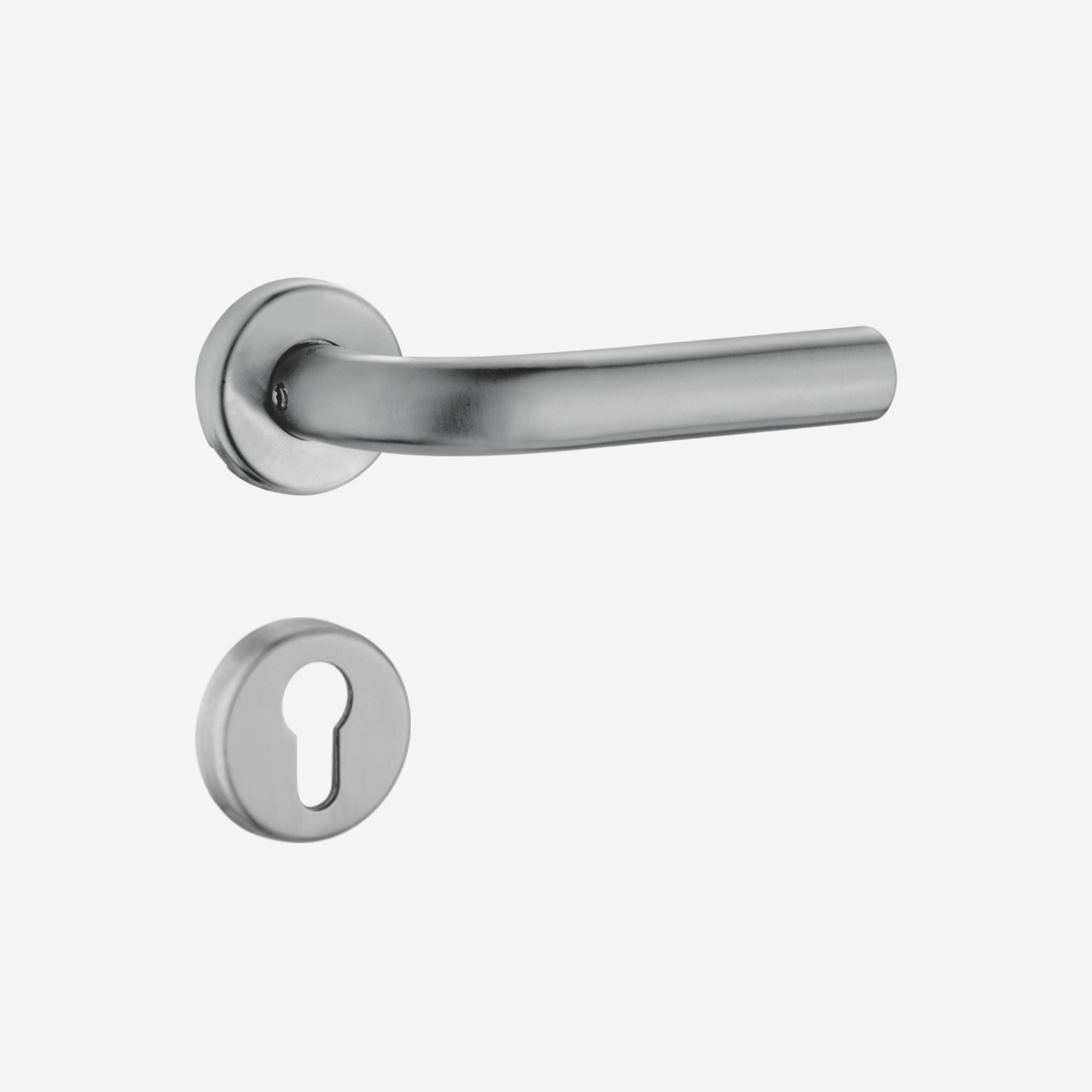 Dorset Lever handle for doors with lock _ cylinder - SL OR (SS)