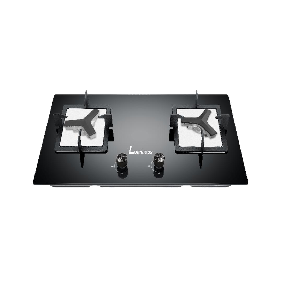 Luminous Top Panel 6mm black tempered glass - KQ2-GBH
