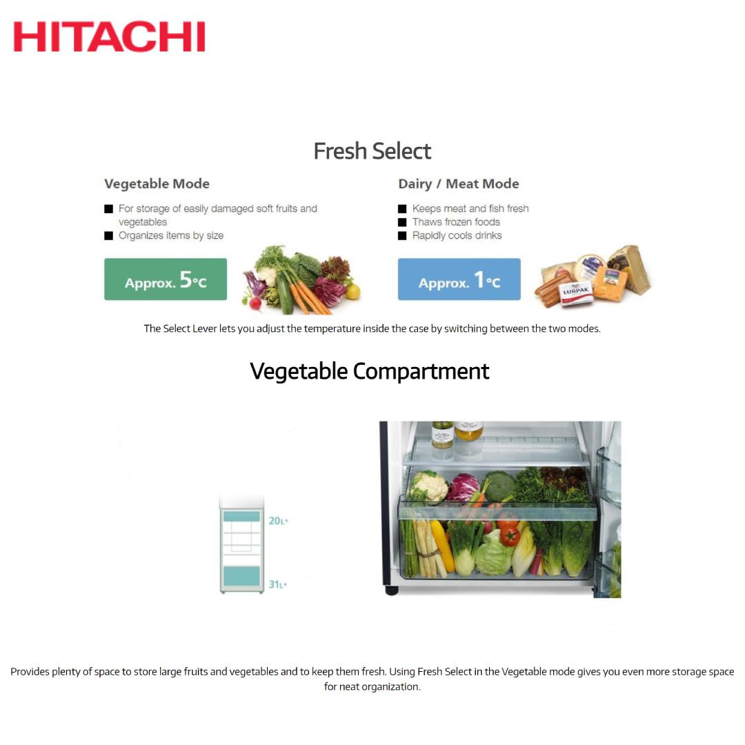 Hitachi Refrigerator R-V490P8PB(BBK).4