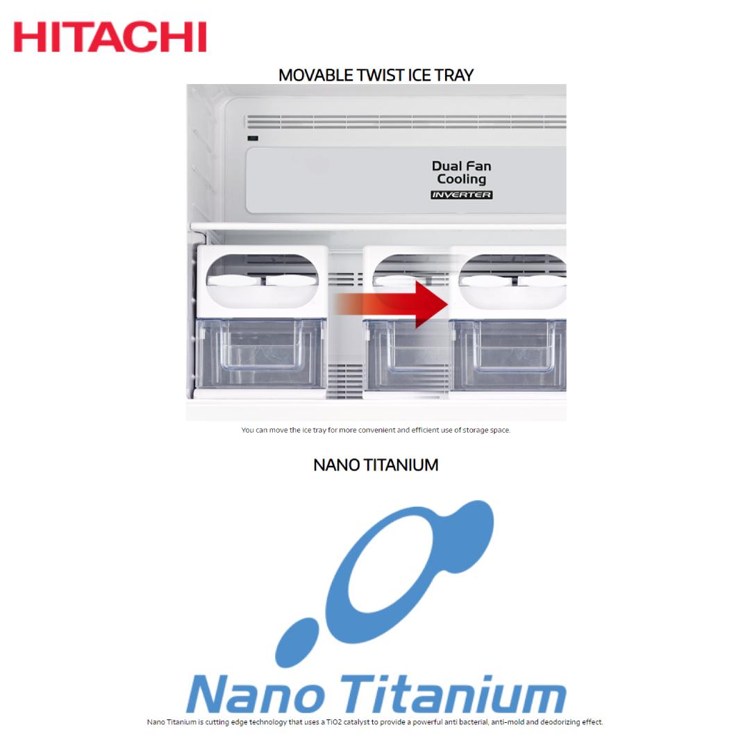 Hitachi Refrigerator R-VG560P7PB (GBK) KD.4