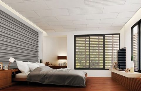 Artificial Wood Sunshade Louvers for bedroom