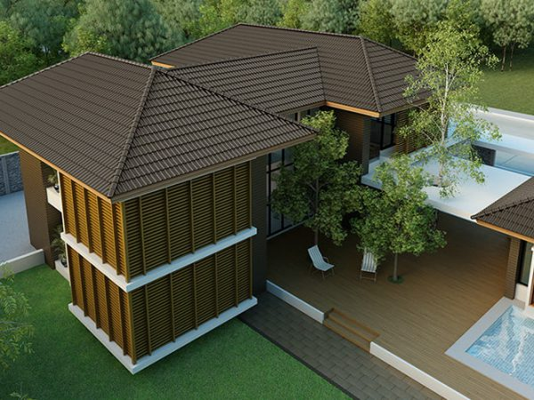 Ceramic Roof Tile - Excella for contemporary house
