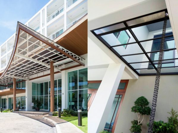 Entrance Acrylic Roof Idea