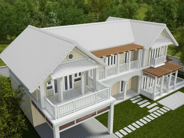 Fiber Cement Roof Ayara Classic Coral Grey site reference 1