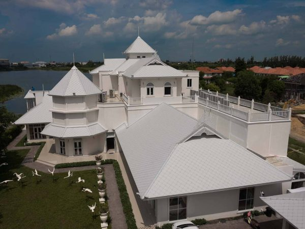Fiber Cement Roof Ayara Classic Coral Grey site reference 3