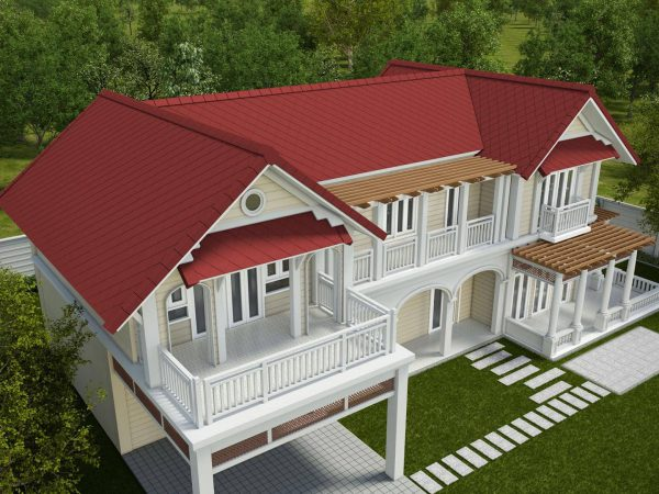 Fiber Cement Roof Ayara Classic Granite Red site reference 1
