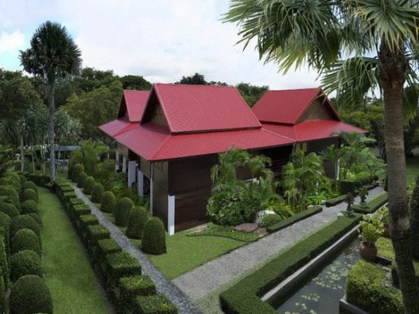 Fiber Cement Roof Ayara Classic Granite Red site reference 2