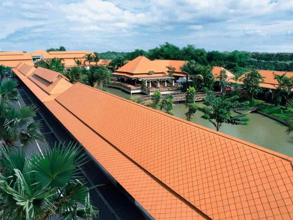 Fiber Cement Roof Ayara Classic Natural Brick site reference 2