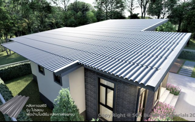 Fiber Cement Roof - Lean to roof - Prolon Roof Series