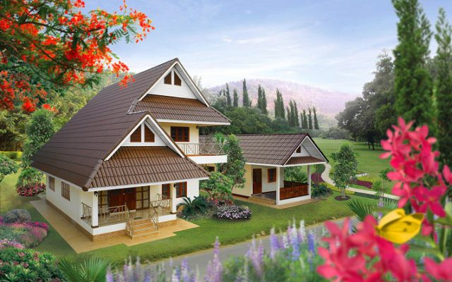 Long lasting Fiber Cement Roof Prima Series for single house