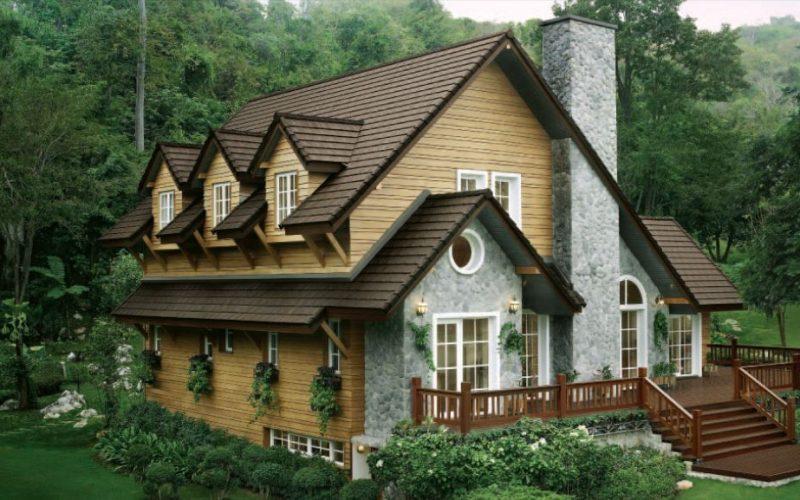 Neustile Concrete Roof Tile -Timber