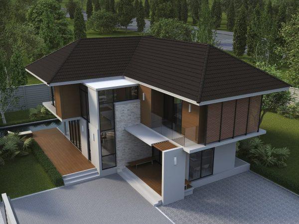 SCG Ceramic Roof Celica Curve_Wooden Brown 2