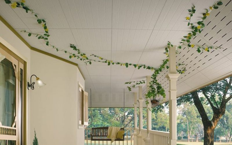 wooden fiber cement board ceiling and eave ceiling with ventilating hole